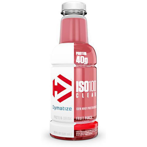 Iso100 Clear, Fruit Punch, 12 - 20 FL OZ Bottles
