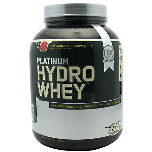 Hydrowhey, Supercharged Strawberry, 3.5 lb (1,590 G)