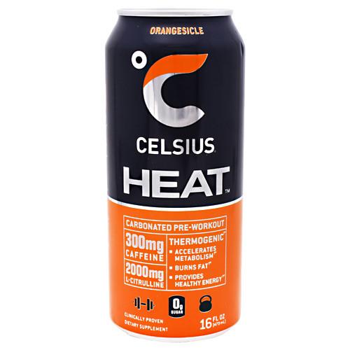 Celsius Heat, Orangesicle, 12 - 16 fl oz (473mL) Cans