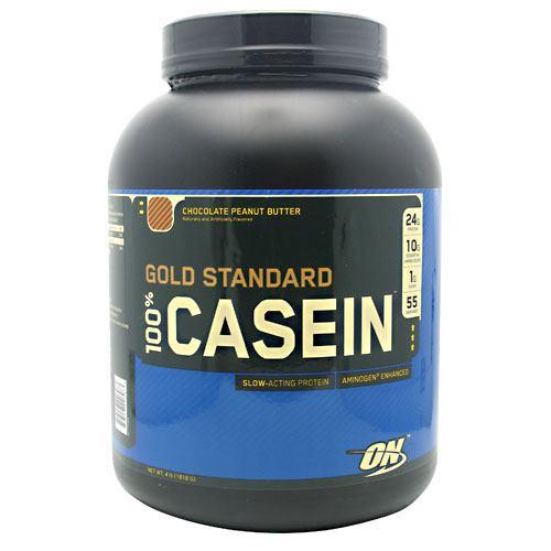 100% Casein, Chocolate Peanut Butter, 4 lb (1818 g)
