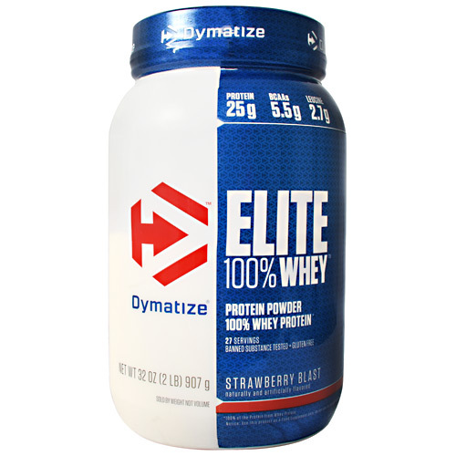 Elite 100% Whey, Strawberry Blast, 2 Lbs (907 g)