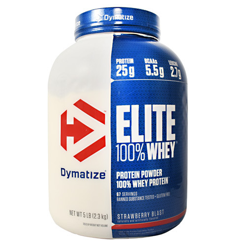 Elite 100% Whey, Strawberry Blast, 5 lbs (2.3 kg)