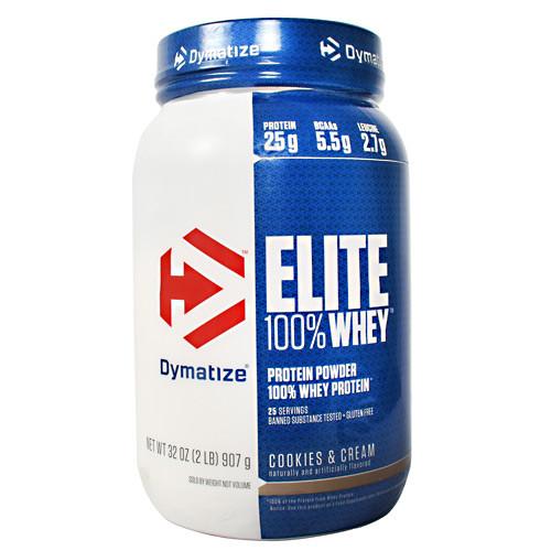 Elite 100% Whey, Cookies & Cream, 2 lb (907 g)