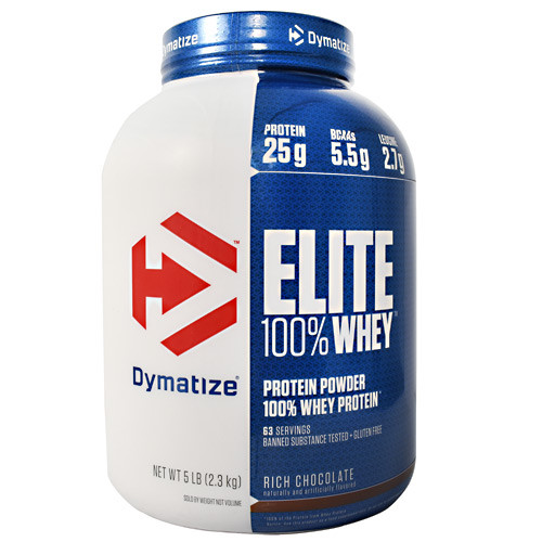 Elite 100% Whey, Rich Chocolate, 5 lbs (2.3 kg)