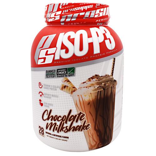 Iso-p3, Chocolate Milkshake, 2 lbs. (907 Grams)