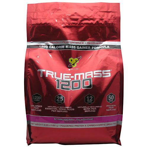 True Mass 1200, Strawberry Milkshake, 10.25 lbs. (4.71 kg)
