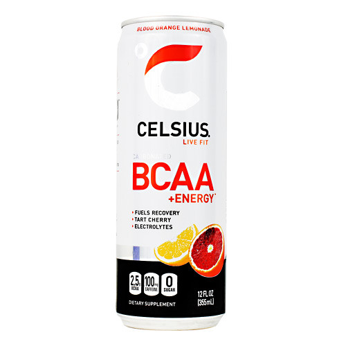 Celsius Bcaa+energy, Blood Orange Lemonade, 12  (12 fl oz) Cans