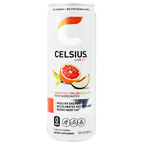 Celsius, Grapefruit Melon Green Tea, 12 (12 fl oz) Cans