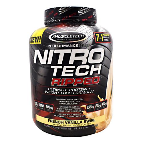 Nitro Tech Ripped, French Vanilla Swirl, 4 lbs