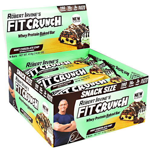 Fit Crunch Bar, Mint Chocolate Chip, 9 (14.60 oz) Bars