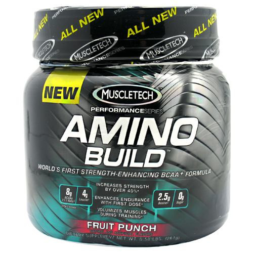 Amino Build, Fruit Punch, 30 servings