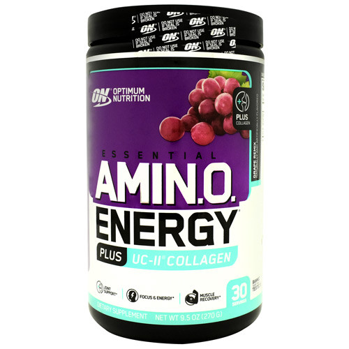 Amino Energy Plus Uc-ii Collagen, Grape Remix, 30 Servings (9.5 oz)