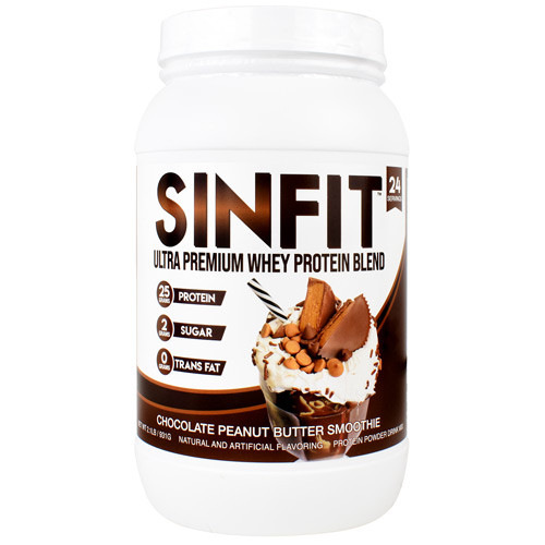Sinfit, Chocolate Peanut Butter Smoothie, 24 Servings (2.1 lb)
