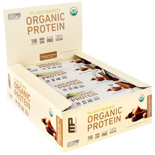 Organic Protein Bar, Chocolate Toffee, 12 (1.76 oz) Bars