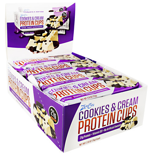 Protein Cups, Cookies & Cream, 12 (3 cup) Packs