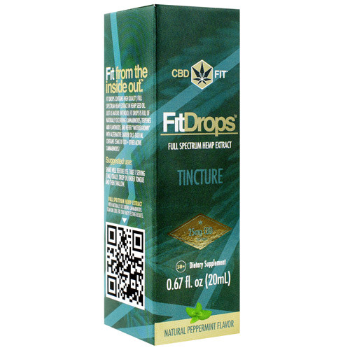 Fit Drops, Natural Peppermint, 20 Servings (20 ml)