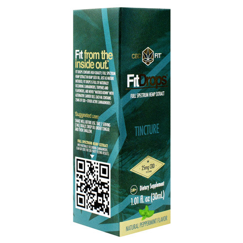 Fit Drops, Natural Peppermint, 30 Servings (30 ml)