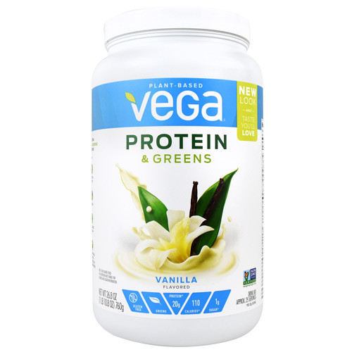 Protein & Greens, Vanilla, 25 Servings (26.8 oz)