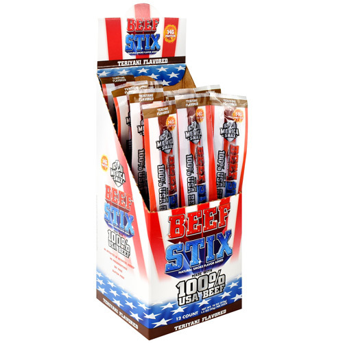 Beef Stix, Teriyaki, 12 (1.5 oz) Sticks