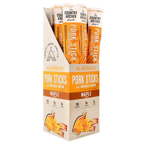 Pork Sticks, Maple, 18 (1 oz) Sticks