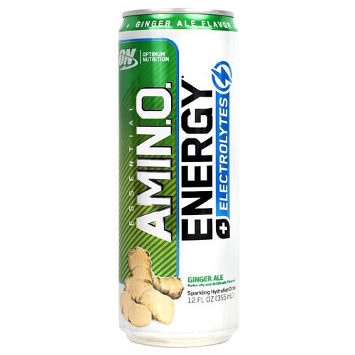 Amino Energy + Electrolytes Rtd, Ginger Ale, 12 (12 fl oz) Cans
