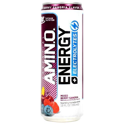 Amino Energy + Electrolytes Rtd, Mixed Berry Sangria, 12 (12 fl oz) Cans