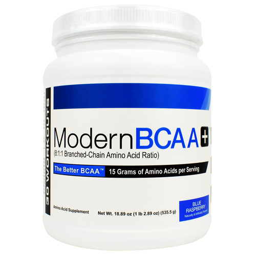 Modern Bcaa+, Blue Raspberry, 30 Servings (18.89 oz) - EU1650001