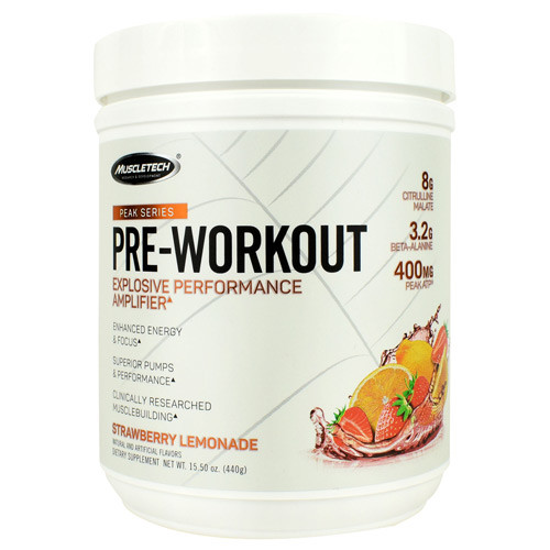Pre-workout, Strawberry Lemonade, 25 Servings (15.50 oz)