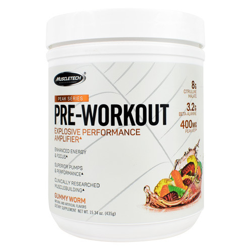Pre-workout, Gummy Worm, 25 Servings (15.34 oz)