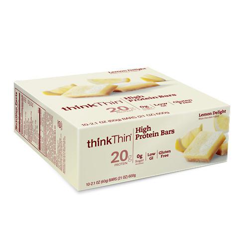 Think Thin High Protein Bar, Lemon Delight, 10 (2.1 oz) bars