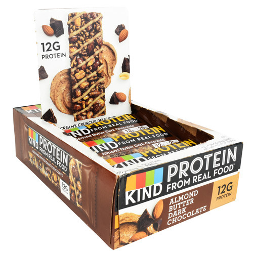 Kind Protein Bar, Almond Butter Dark Chocolate, 12 (1.76 oz) Bars