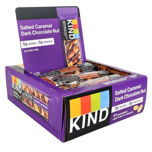 Kind Bar, Salted Caramel Dark Chocolate Nut, 12 (1.4 oz) Bars