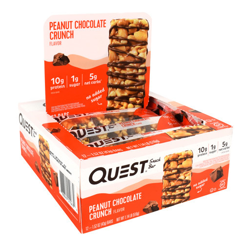 Snack Bar, Peanut Chocolate Crunch, 12 - 1.52 OZ (43g) Bars