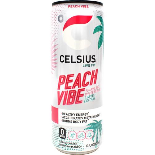 Celsius Peach Vibe 12oz 12/cs