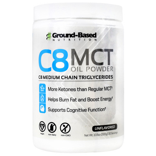 C8 Mct Oil Powder, Unflavored, 30 servings