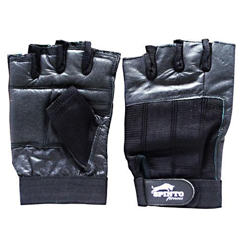 Men's Workout Gloves, Black, LG