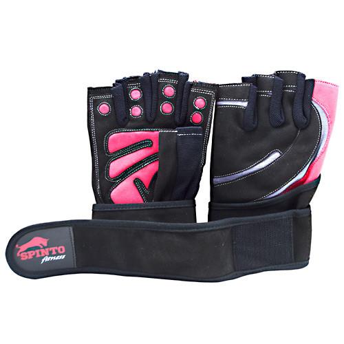 Men's Workout Glove W/ Wrist Wraps, Red/gray, LG