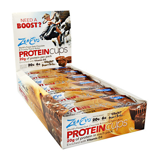 Protein Cups, Dark Chocolate And Crunchy Peanut Butter, 12 (3 cup) Pack