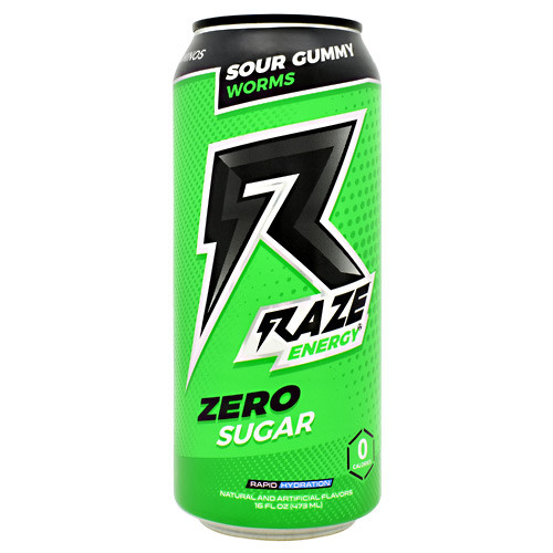 Raze Energy, Sour Gummy Worms, 12 - 16 FL OZ Cans