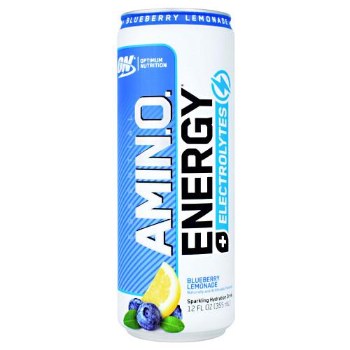 Amino Energy + Electrolytes Rtd, Blueberry Lemonade, 12 (12 fl oz) Cans