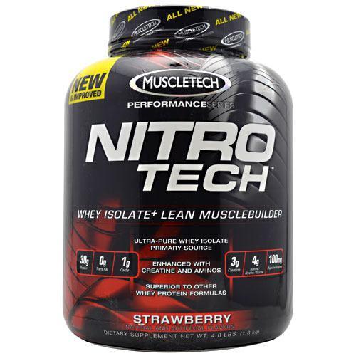 Nitro-tech, Strawberry, 4 lbs (1.8 kg)