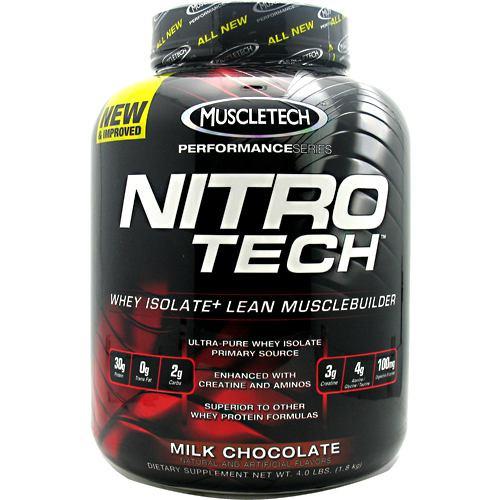 Nitro-tech, Milk Chocolate, 4 lbs (1.8 kg)
