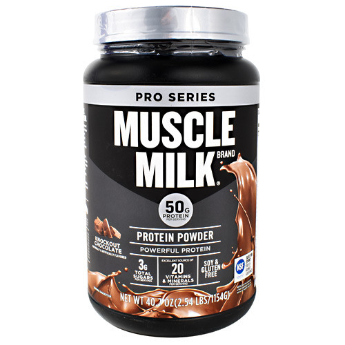 Muscle Milk, Knockout Chocolate, 2.54 lbs (1154 g)