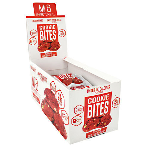 Cookie Bites, Red Velvet White Chocolate Chip, 8 (3 pack) Cookies