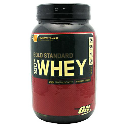 100% Whey, Strawberry Banana, 2 lb (912 g)
