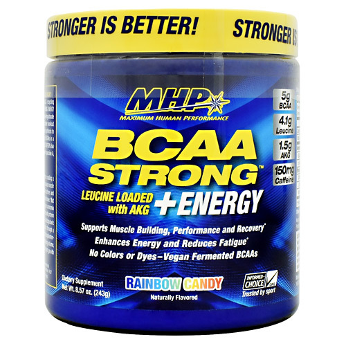 Bcaa Strong  Energy, Rainbow Candy, 30 Servings (8.57 oz)