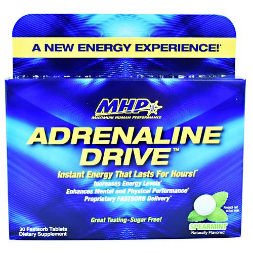 Adrenaline Drive, Spearmint, 30 Fastsorb Tablets
