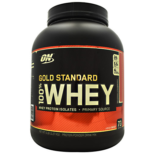 100% Whey, Delicious Strawberry, 5 lbs