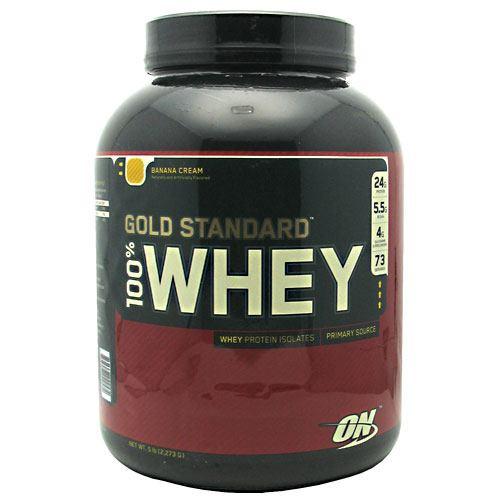 100% Whey, Banana Cream, 5 lb (2,273 g)