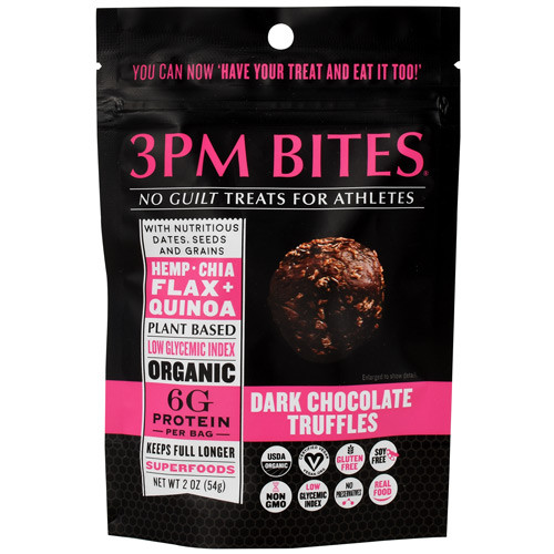 3pm Bites, Dark Chocolate Truffles, 6 - 2 oz Packets